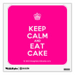 [Cupcake] keep calm and eat cake  Wall Decals