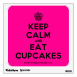 [Cupcake] keep calm and eat cupcakes  Wall Decals