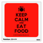 [Cutlery and plate] keep calm and eat food  Wall Decals