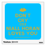 [Two hearts] don't cry coz niall horan loves you  Wall Decals