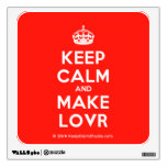 [Crown] keep calm and make lovr  Wall Decals