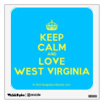 [Crown] keep calm and love west virginia  Wall Decals