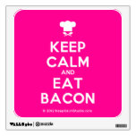 [Chef hat] keep calm and eat bacon  Wall Decals