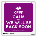 [Two hearts] keep calm and we will be back soon  Wall Decals