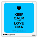 [Love heart] keep calm and love cma  Wall Decals
