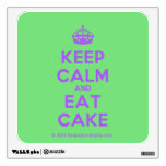 [Crown] keep calm and eat cake  Wall Decals