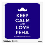 [Moustache] keep calm and love peha  Wall Decals