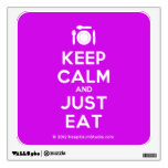 [Cutlery and plate] keep calm and just eat  Wall Decals