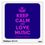[Dancing crown] keep calm and love music  Wall Decals