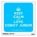 [Crown] keep calm and love coboy junior  Wall Decals