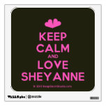 [Two hearts] keep calm and love sheyanne  Wall Decals