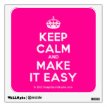 [Crown] keep calm and make it easy  Wall Decals