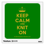 [Knitting crown] keep calm and knit on  Wall Decals