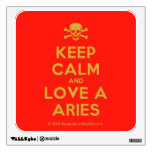 [Skull crossed bones] keep calm and love a aries  Wall Decals