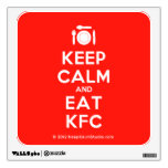[Cutlery and plate] keep calm and eat kfc  Wall Decals