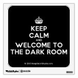 [Crown] keep calm and welcome to the dark room  Wall Decals