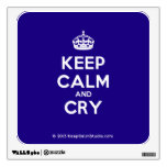 [Crown] keep calm and cry  Wall Decals