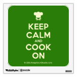 [Chef hat] keep calm and cook on  Wall Decals