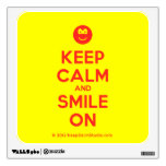 [Smile] keep calm and smile on  Wall Decals