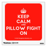 [Crown] keep calm and pillow fight on  Wall Decals