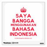 [Crown] saya bangga menggunakan bahasa indonesia  Wall Decals
