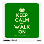 [Crown] keep calm and walk on  Wall Decals