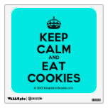 [Crown] keep calm and eat cookies  Wall Decals