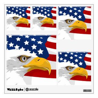 Wall Decals Patriotic Flag & Eagle