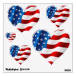 Wall Decals Patriotic Flag/Simple Hearts