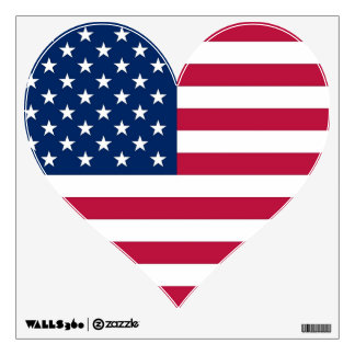 Wall Decals with federal flag of U.S.A.