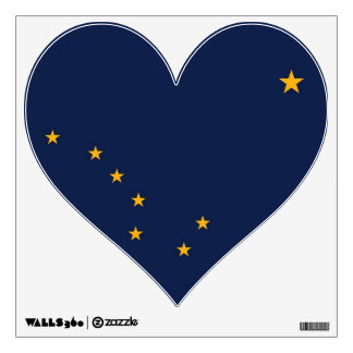 Wall Decals with flag of Alaska, U.S.A.