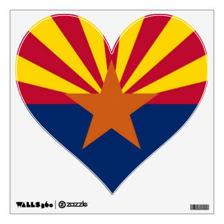 Wall Decals with flag of Arizona, U.S.A.