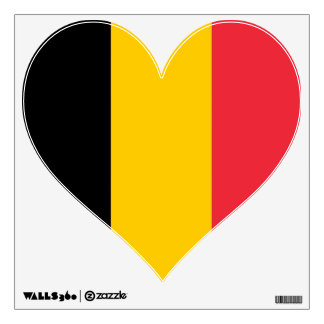 Wall Decals with flag of Belgium