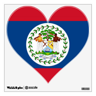 Wall Decals with flag of Belize