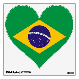 Wall Decals with flag of Brazil
