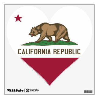 Wall Decals with flag of California, U.S.A.