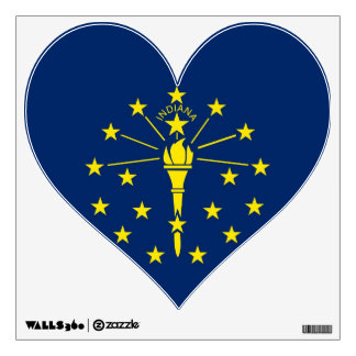 Wall Decals with flag of Indiana, U.S.A.