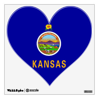 Wall Decals with flag of Kansas, U.S.A.