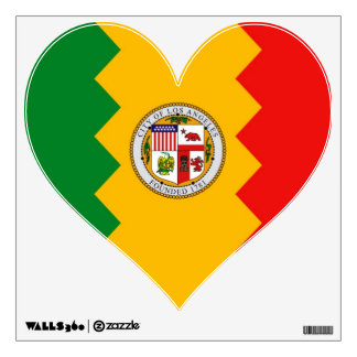 Wall Decals with flag of Los Angeles, U.S.A.