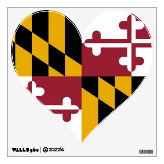 Wall Decals with flag of Maryland, U.S.A.