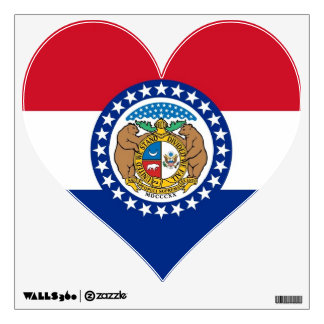 Wall Decals with flag of Missouri, U.S.A.