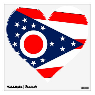 Wall Decals with flag of Ohio, U.S.A.