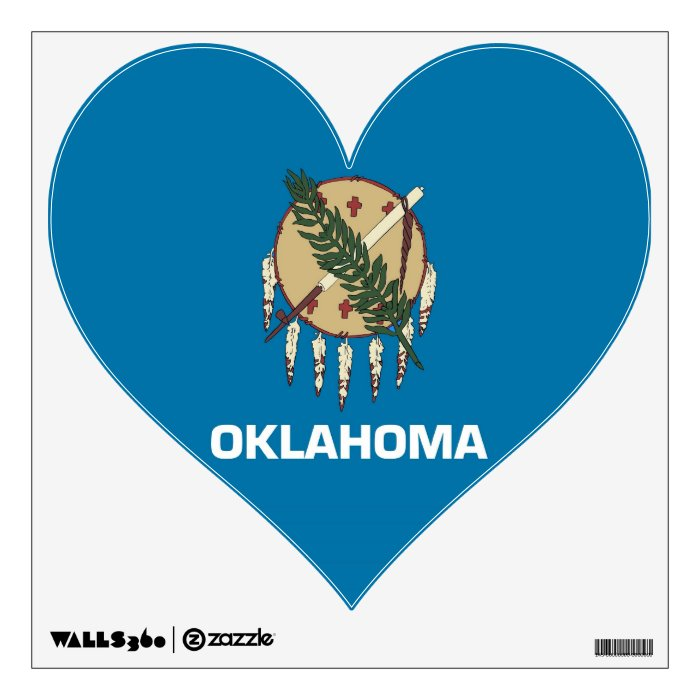 Wall Decals with flag of Oklahoma, U.S.A.
