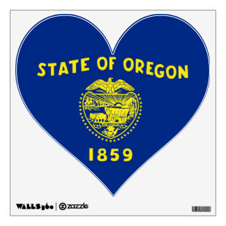 Wall Decals with flag of Oregon, U.S.A.