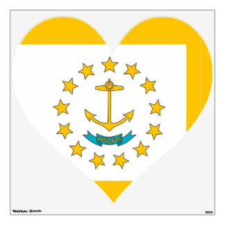 Wall Decals with flag of Rhode Island, U.S.A.