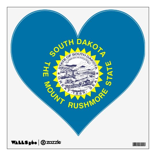 Wall Decals with flag of South Dakota, U.S.A.