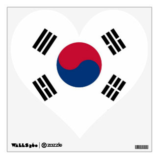 Wall Decals with flag of South Korea