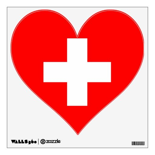 Wall Decals with flag of Switzerland