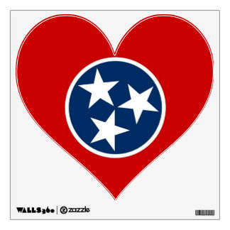 Wall Decals with flag of Tennessee U S A