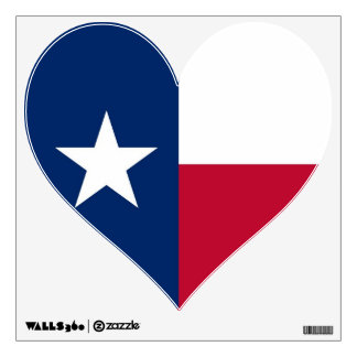 Wall Decals with flag of Texas, U.S.A.